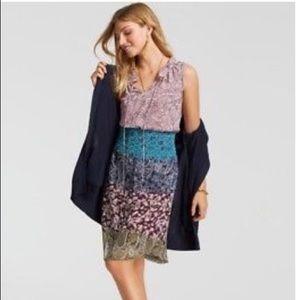 CAbi Style 5371 Paisley Dani Dress Pink Blue Sm